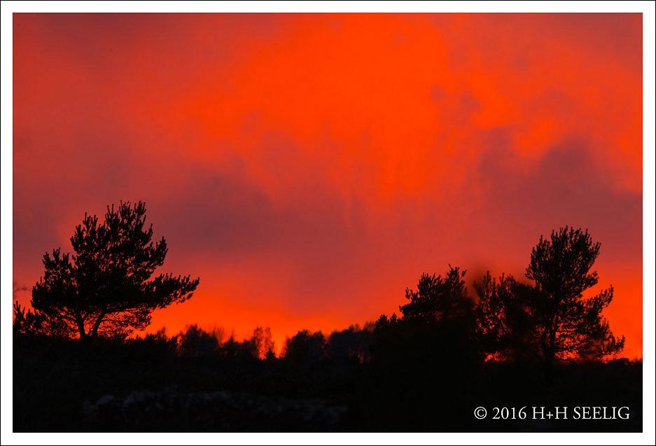 Feuriger Sonnenuntergang