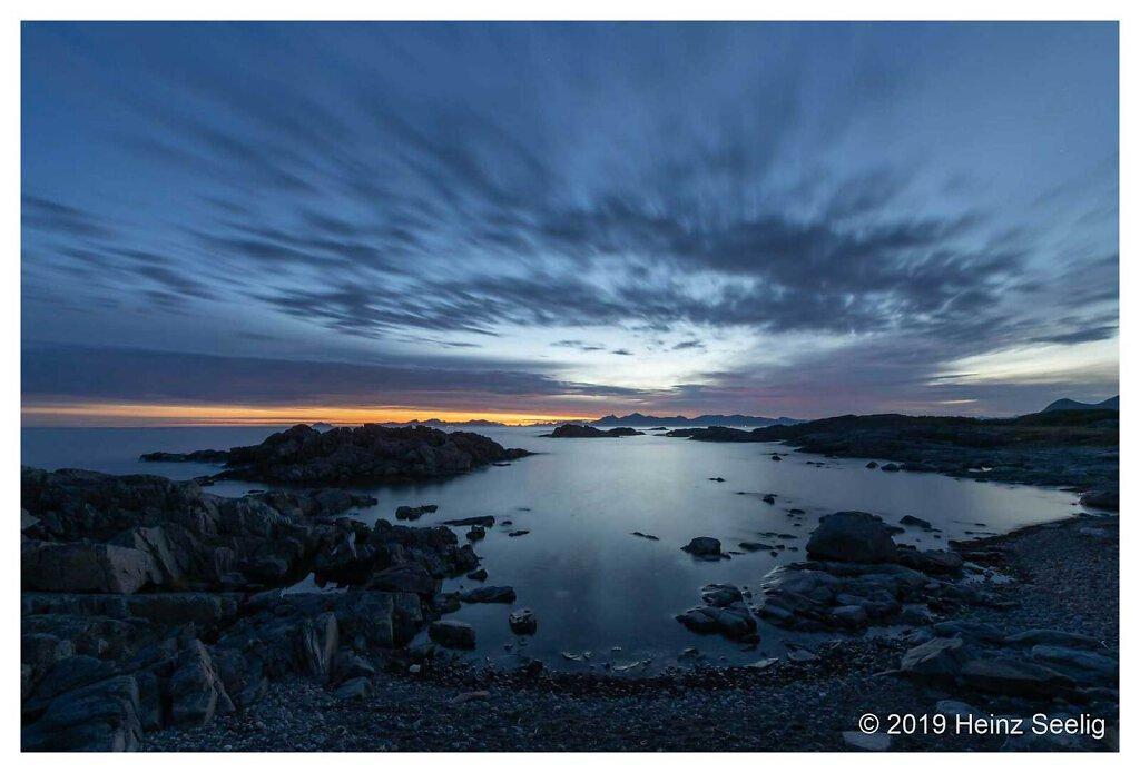 Küste bei Laukvik um 3 Uhr früh